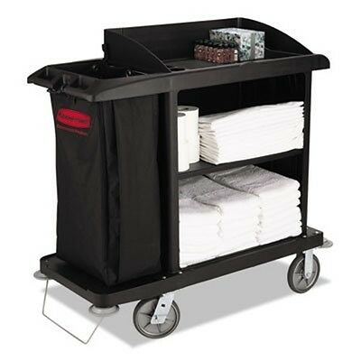 Rubbermaid® Commercial Multi-Shelf Cleaning Cart, 3 Shelves, 22w x 49d x 50h, Bl