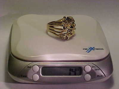 Large Mens Nugget Ring 14 Grams Solid 10K for Scrap or not Size13