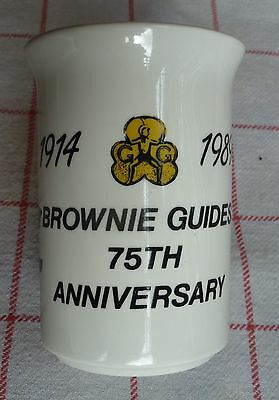 Brownie Guides 75th Anniversary souvenir mug (1914-1989)
