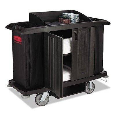 Rubbermaid Commercial Full-Size Housekeeping Cart, 3 Shelves, 22w x 60d x 50h, B