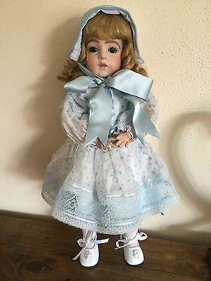"""Lilian Middleton Reproduction of an antique doll on composition body 18"""" tall"""