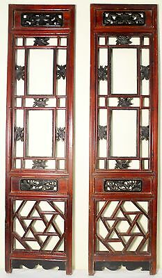 Antique Chinese Screen Panels (5052) (Pair) Cunninghamia wood, Circa 1800-1849
