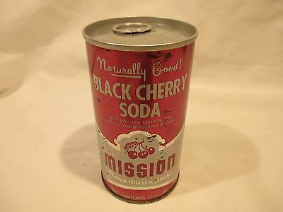 Mission Black Cherry Straight Steel Pop Soda Can