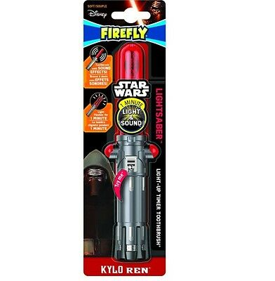 Firefly Star Wars Kylo Ren Lightsaber 1-minute Timer Soft Toothbrush