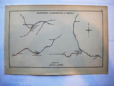1903 RAILWAY CLEARING HOUSE Junction Diagrams.DOLPHINTON,MORNINGSIDE & PEEBLES.