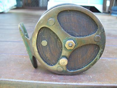 "Old Used Wooden/Brass ""Ireland""Fishing Reel!!!!!"