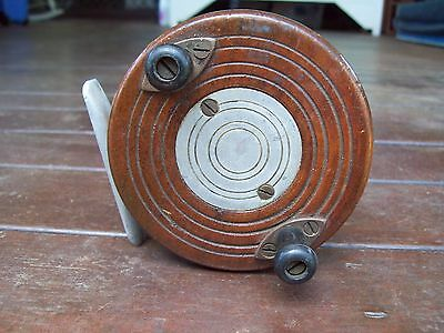 Old Used Wood/Metal Fishing Reel!!!!!