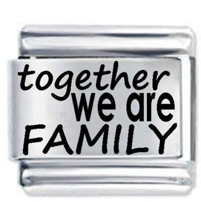 1x Together Family Charm 1x Genuine Nomination .Bracelet Link Bundle