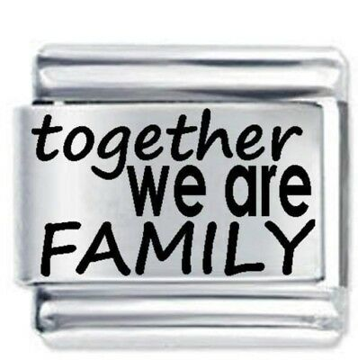 Together We are Family * Daisy Italian Charm Fits Nomination Classic Size