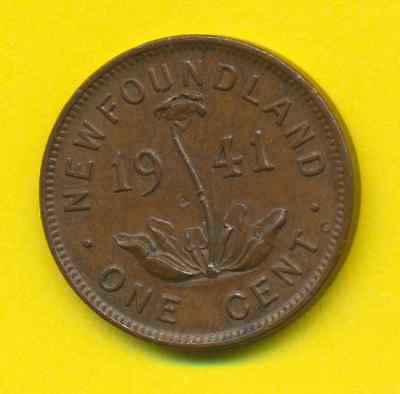 New Foundland  1 Cent  1941  KM 18  VF+