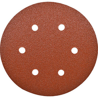 Workshop Industrial Quality Six Holes 150Mm Adhesivebacked P120 - Pack Of 100