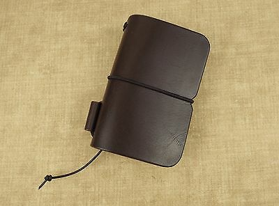 Handcrafted 'Explorer 3' Leather Traveler's Notebook Cover Moleskine 6.5x10.5cm