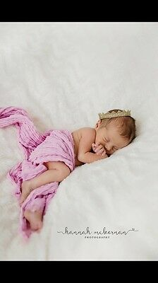 Hand Dyed Baby Pink Cheesecloth Newborn Baby Wrap. Photography photo prop