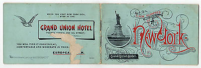 24 Page Vintage Advetising Booklet For The Grand Union Hotel In New York City