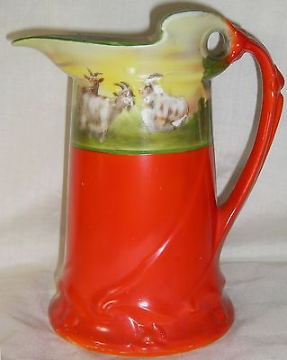 "Royal Bayreuth 7 1/4"" Hand Painted Embossed Pitcher"