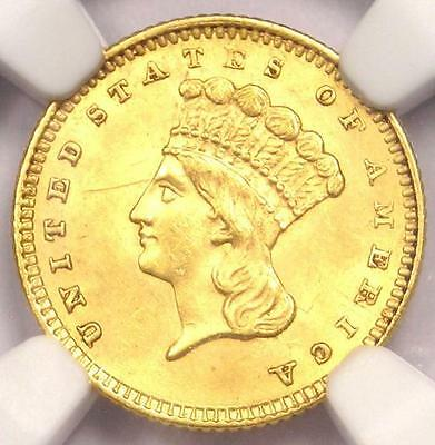 1861 Indian Gold Dollar Coin G$1 Civil War - NGC Uncirculated Details (UNC MS)!