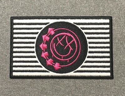Blink-182 STRIPED FLAG Patch 4in iron on patch Music Rock Band blink 182