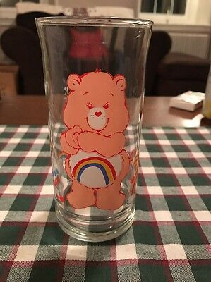 VINTAGE! 1983 Pizza Hut Care Bears Collector Glass-Cheer Bear