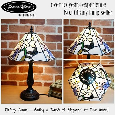 "2015 New Design@Amazing 12"" Butterfly Museum Quality Floral Tiffany bedside Lamp"