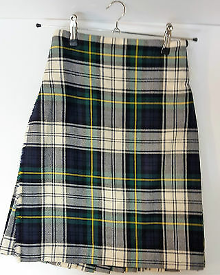 "Ex Hire 28"" waist 23"" drop Dressed Gordon  6 Yard Wool Kilt A1 Condition"