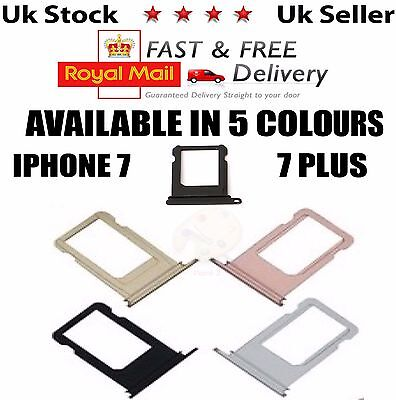 Replacement Sim Card Tray Slot Holder For Iphone 7, 7 Plus Ejector Pin Socket