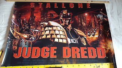Judge Dredd Stallone original  double sided movie uk quad poster