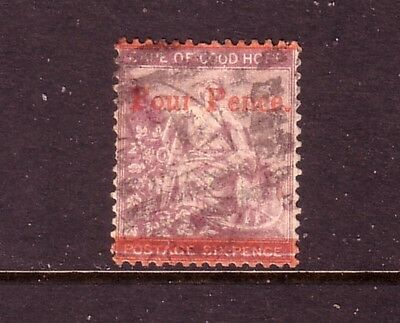 CAPE of GOOD HOPE....  1868  4d on 6d used