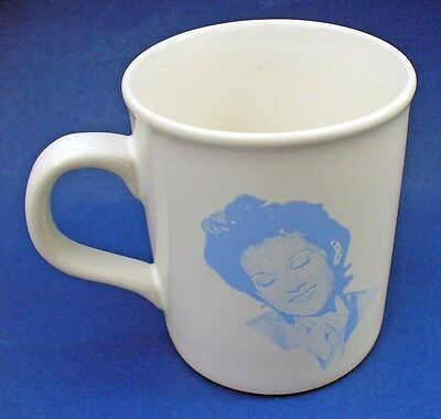 CELINE DION Signature & Picture COFFEE MUG Vintage Made in ENGLAND 12 oz