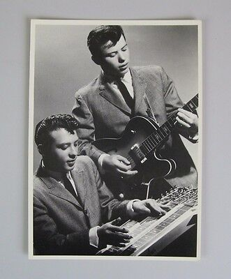 Santo & Johnny  Vintage Postcard  / Rock and Roll Brothers