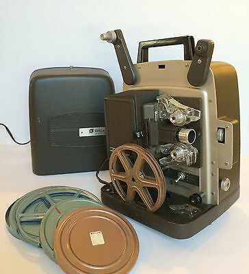 Vintage Bell & Howell Model 346A Autoload Super 8 Movie Projector + 2 reels