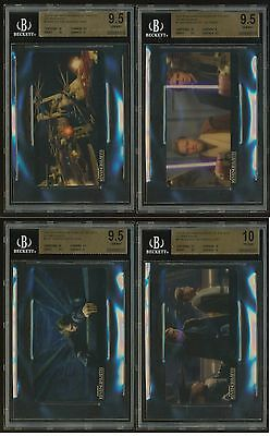 2015 Topps Star Wars REVENGE OF THE SITH 3D Widevision GRADED SET BGS 9.5 & 10's