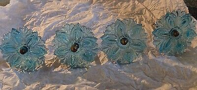 Vintage  Turquoise of glass curtain tie backs
