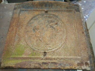 Ornate Cast Iron Victorian Fireplace Cover