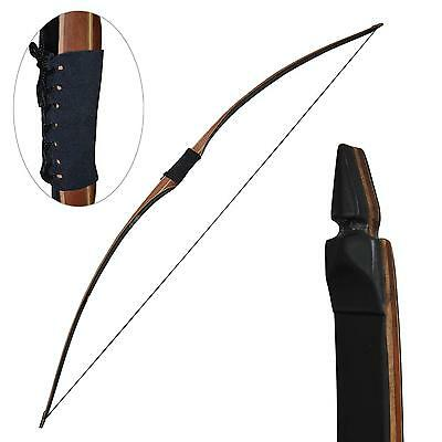 "Archery Recurve Bow 45lbs Hunting Longbow 68"" Traditional Horsebow Right Hand"