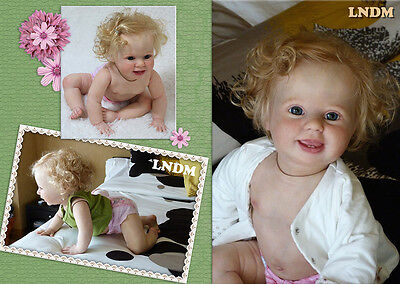 """SOLD OUT reborn kit Amelia, 10 Month Old (25"""") Crawler with Torso & cloth body"""