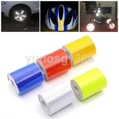 5cmx3m Self Adhesive Tape Safety Caution Reflective Night Work Warning Sticker U