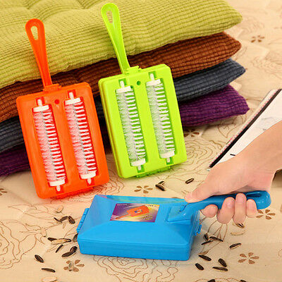 Handheld Carpet Table Sweeper Crumb Dirt Fur Brush Cleaner Collector Roller Tool
