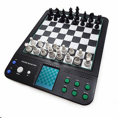 Chess Master Electronic Talking Voice Chess Games Computer Set 8 in 1 Brain Game