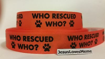"""Grosgrain Ribbon Black Paw Prints on Lime Green Dogs Animals Rescue 7//8/"""" Wide"""