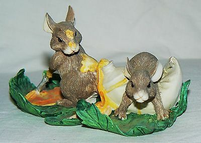 """Dean Griff Charming Tails """"Painting Leaves"""" mice Silvestri"""