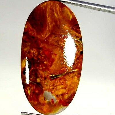 13.50Cts AAA 100% NATURAL GOLDEN PIETERSITE OVAL CABOCHON FINE QUALITY GEMSTONES