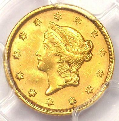 1851 Liberty Gold Dollar Coin G$1 - Certified PCGS AU Details - Rare Coin!