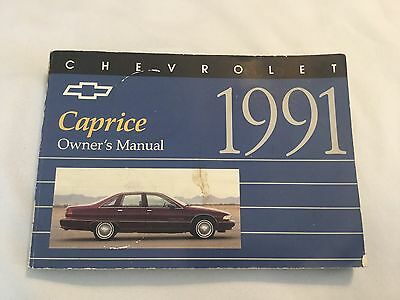 Chevrolet Chevy Caprice 1991 Owners Manual