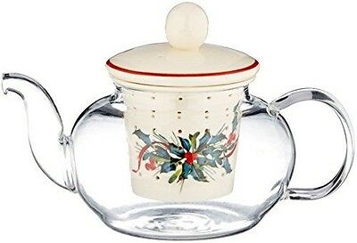 Lenox Winter Greetings Tea for One with Infuser, Ivory