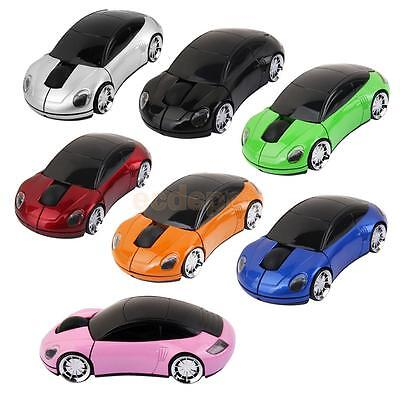 2.4G Wireless Car Shape 1600DPI Optical Laptop Mouse USB Receiver Computer Mice