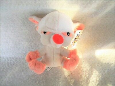 """New Pinky and the Brain 1998 Brain Key Chain By Jaclyn Warner Bros. with Tag 5"""""""