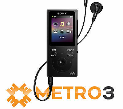 NEW Sony Walkman E-Series NWE394 8GB MP3 Digital Music/Video FM Player BLK