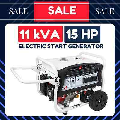 POWER GENERATOR ELECTRIC START 15HP 11KVA 9000W Rated Petrol Camping 4 STROKE