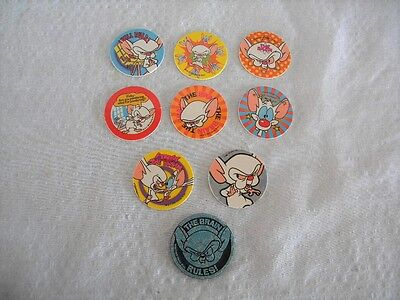 Pinky and the Brain 1995, 8 POGs and 1 Slammer Animaniacs Warner Bros.