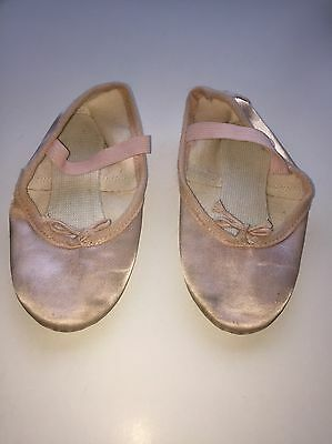 1st POSITION Pink Satin BALLET SHOES size 12 Genuinely Worn Once